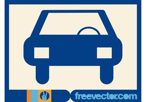Icono del vector del coche