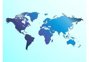 Karta över världen vektor