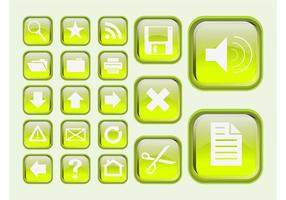 Groene Interface Pictogrammen