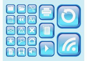 Blue Interface Symbols