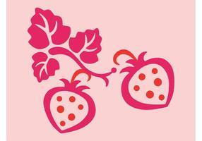 Vecteurs de fraises