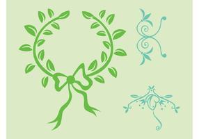 Plant-wreath-vector