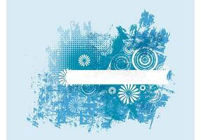 Design grunge bleu
