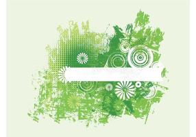 Grüne Grunge Blumen