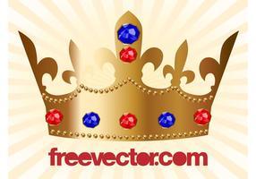 Guld krona vektor