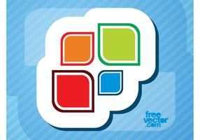 Colorful Vector Sticker