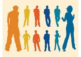 Silhouette Men And Women