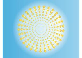 Estrella círculo vector