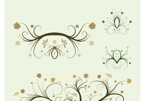 Vector Plant Swirls