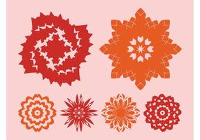 Flowers Icons Vectors