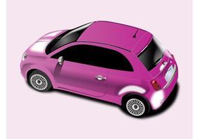 Pink Fiat 500