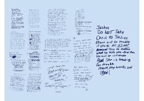 Notes écrites manuelles