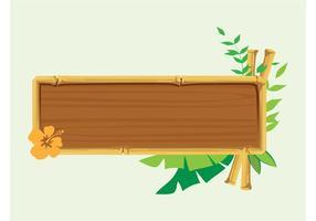 Bannière en bois