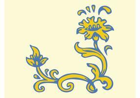 Gul blomma Clip Art