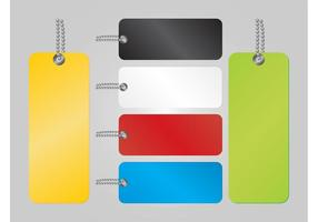 Kleurrijke Tags Vector
