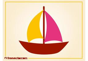 Gestileerde Zeilboot Vector