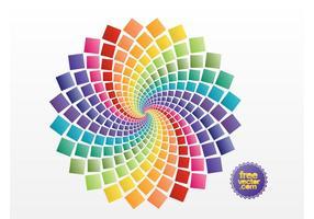 Vetor de cores gradiente