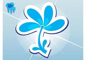 Icône de fleur bleue