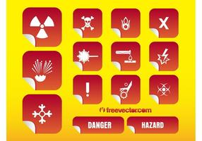 Hazard Stickers Vectoren