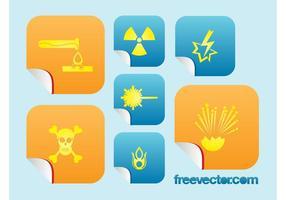 Icônes de danger chimique