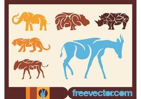 African-animals-vectors