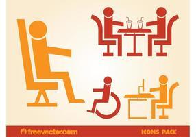 Iconos de personas sentadas