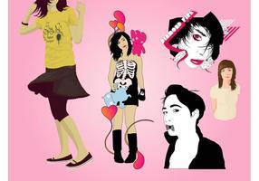 Fashion-girls-vector