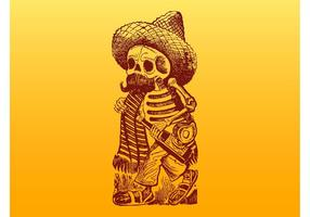 Mexican-skeleton-character-vector