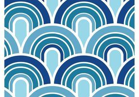 Blauw Golvenpatroon