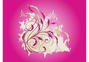 Grunge blomma virvlar runt