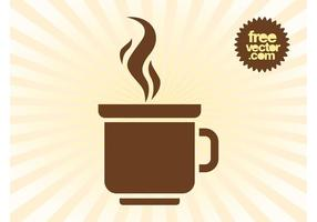 Logotipo de la taza de café vector