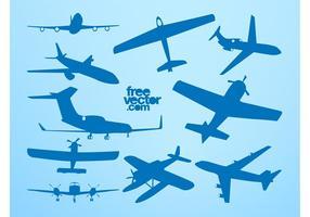 Silhuetas de avião