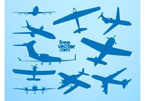 Flygplan Silhuetter