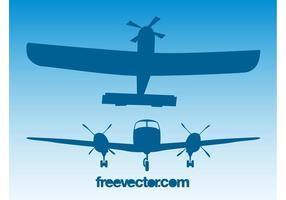 Retro vliegtuigen