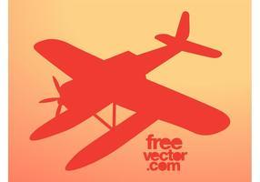 Vector silhouet van het vliegtuig