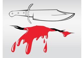 Cuchillo y herida