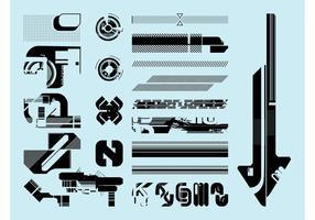 Abstrakte futuristische Vektoren