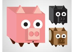 Pig Vector Cartoons
