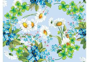 Marco del vector de flores