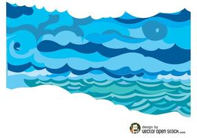Sea clipart vector - Pencil and in color sea clipart vector