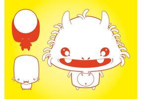 Cute Vector Monster Illustrations