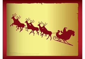 Santa-sleigh-vector