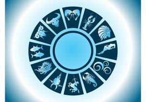 Vector del círculo del zodiaco