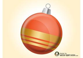 Orange Christmas Ball
