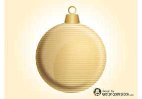 Bola de navidad de oro