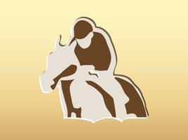 Vector de equitación