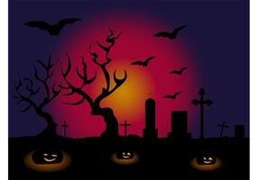 Halloween vector behang