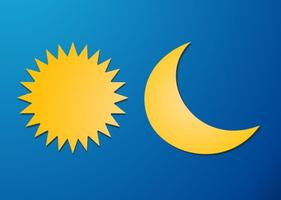 Zon en Maan Vector Elementen