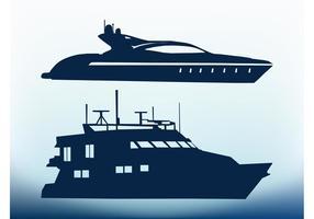 Vectores del yate del mar