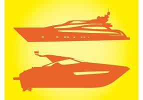Vecteurs de yachts